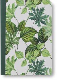 Skrivhäfte A6 olinjerat gröna blad