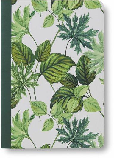 Skrivhäfte A5 olinjerat gröna blad