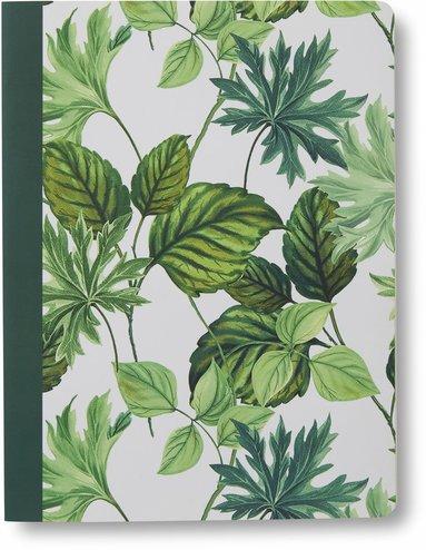 Skrivhäfte 19x25cm linjerat gröna blad