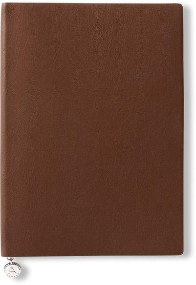 Anteckningsbok A5 linjerad mjuk pärm cognac 1