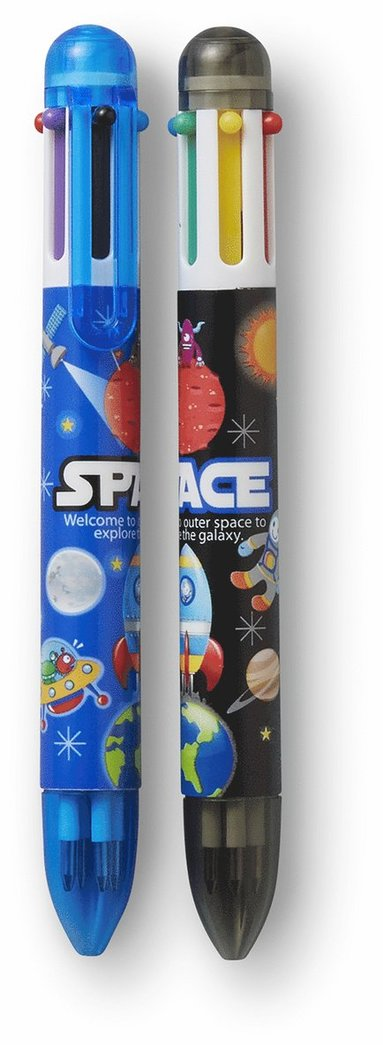 Kulspetspenna 6-färgspenna rymden