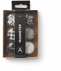 Magneter grafisk svart/vit