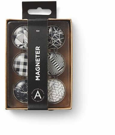 Magneter grafisk svart/vit 1
