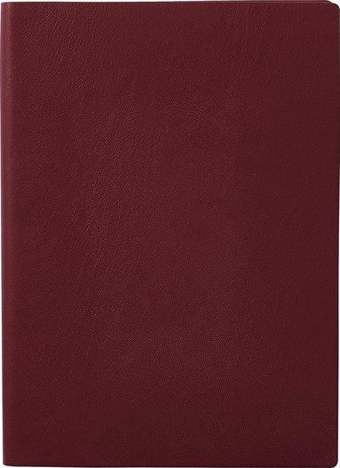 Anteckningsbok A5 linjerad mjuk pärm vinröd 1