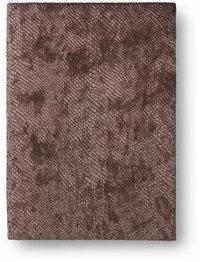 Anteckningsbok 14x20cm mjuk pärm sammet brun