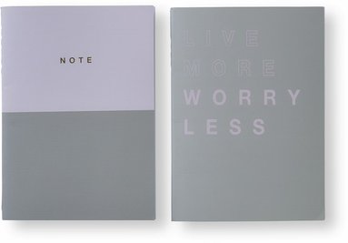 Skrivhäfte 2-pack rosa & grå