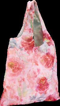 Tygkasse polyester blomster