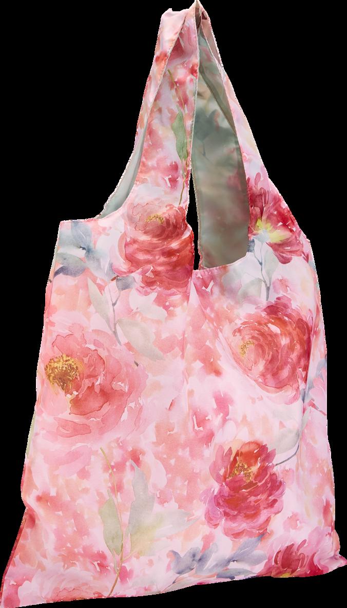 Tygkasse polyester blomster 1