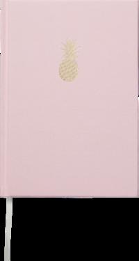 Anteckningsbok A5 Ananas rosa