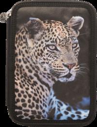 Pennfodral fyllt dubbelt Mattias A. Klum leopard