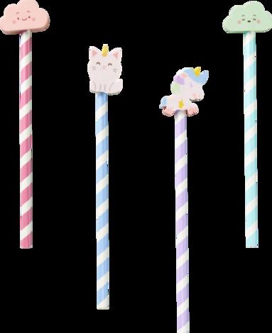 Blyertspenna med suddtopp Sweetie