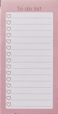 Att göra-lista rosa
