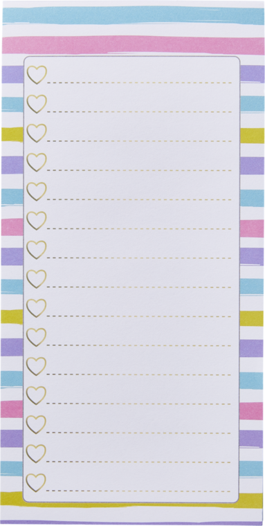 Att göra-lista rosa/lila/blå/gul