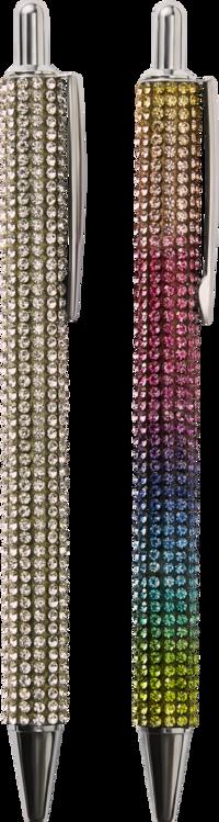 Kulspetspenna glitter, silver eller regnbågsfärg