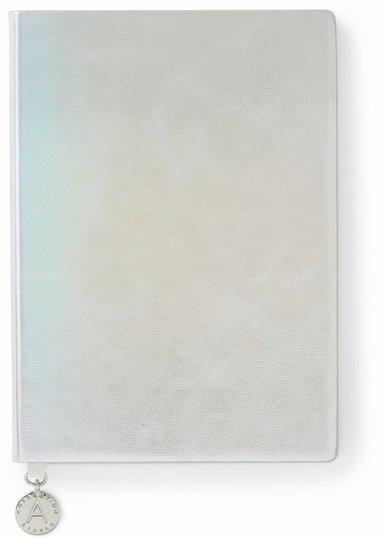 Anteckningsbok A5 linjerad mjuk pärm ,metallic silver 1