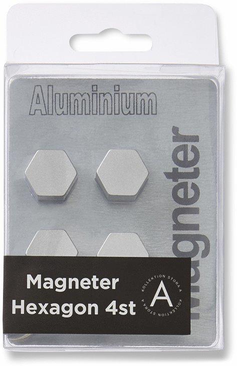 Magnet hexagon aluminium 4-pack 1