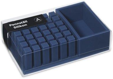 Pennställ silikon blå 1