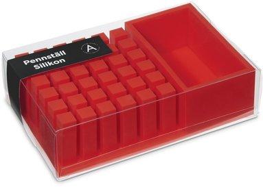 Pennställ silikon röd 1