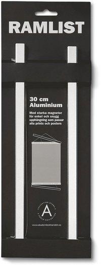 Ramlist 30cm aluminium silver