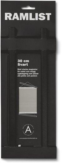 Ramlist 30cm aluminium svart