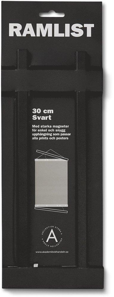 Ramlist 30cm aluminium svart 1