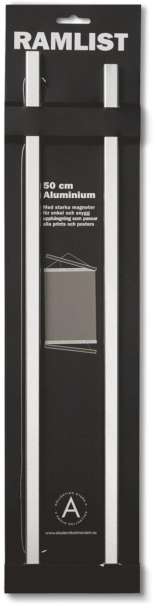Ramlist 50cm aluminium silver 1