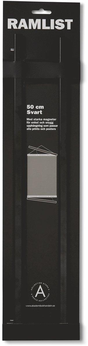 Ramlist 50cm aluminium svart 1