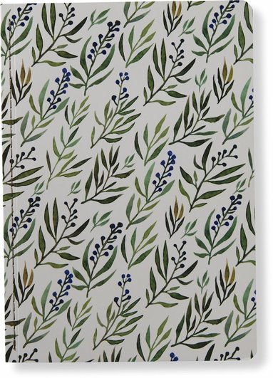 Skrivhäfte 14x20cm olinjerad botanic
