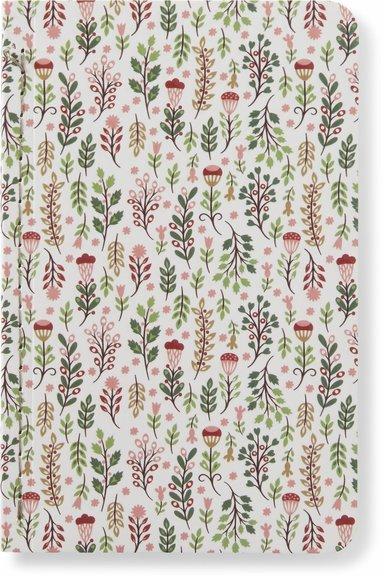 Skrivhäfte 9x14cm linjerad botanic