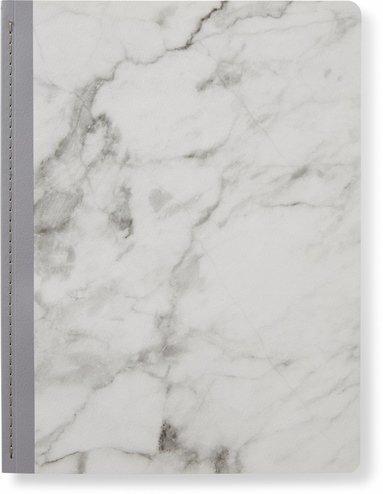 Skrivhäfte 19x25cm olinjerad marmor grå