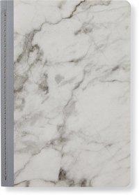 Skrivhäfte 14x20cm linjerad  marmor grå