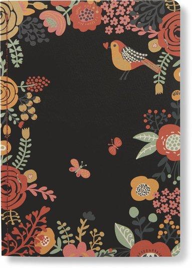 Skrivhäfte 14x20cm linjerad garden svart