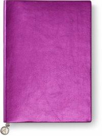 Anteckningsbok A5 linjerad mjuk pärm, metallic rosa