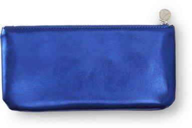 Pennfodral 22x12cm mjuk, metallic blå 1