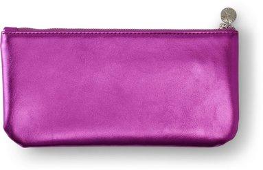 Pennfodral 22x12cm mjuk, metallic rosa 1