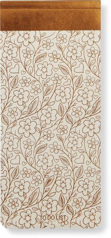 Att göra-lista blommor vit/koppar 1