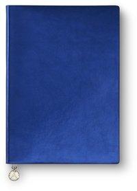 Anteckningsbok A5 linjerad mjuk pärm, metallic blå