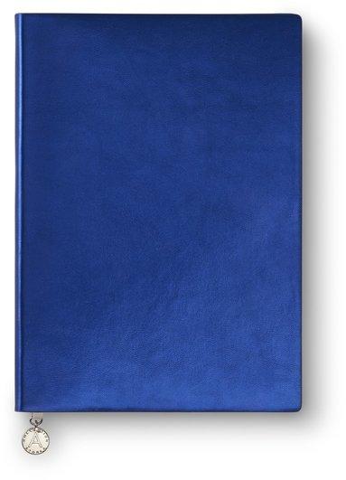 Anteckningsbok A5 linjerad Metallic blå 1