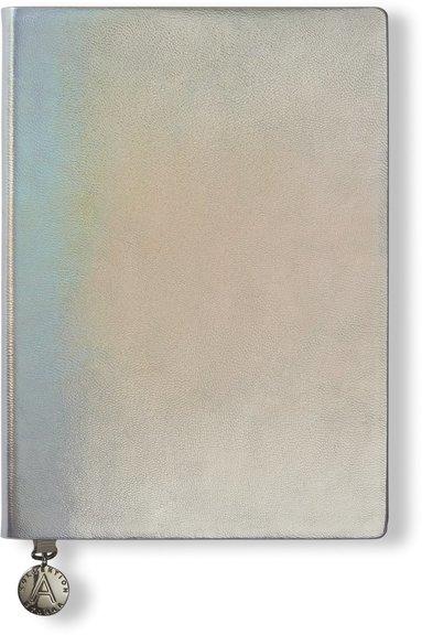 Anteckningsbok A6 linjerad mjuk pärm, metallic silver 1