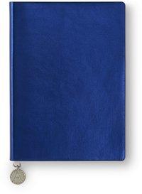 Anteckningsbok A6 linjerad mjuk pärm, metallic blå