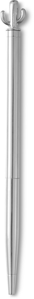 Kulspetspenna Metallic kaktustopp silver