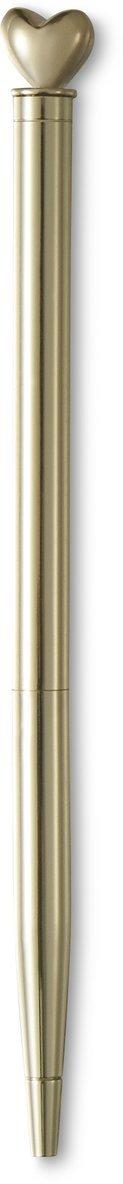 Kulspetspenna Metallic hjärttopp guld