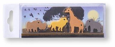 Radergummi vilda djur fyra stycken 1