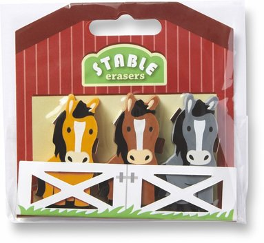 Radergummi häst 3 stycken 1