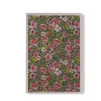 Skrivhäfte 14x20cm olinjerad småblommig rosa