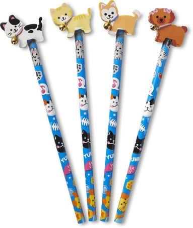 Blyertspenna med sudd hund eller katt