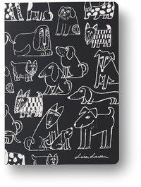 Anteckningsbok A5 linjerad mjuk pärm Lisa Larson hund