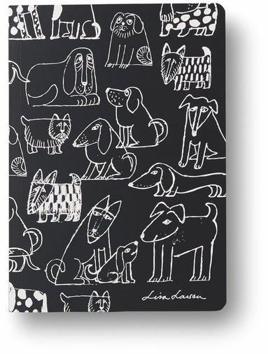 Anteckningsbok A5 linjerad mjuk pärm Lisa Larson hund 1