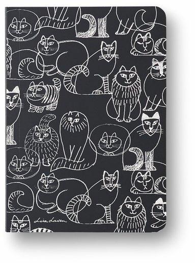 Anteckningsbok A6 linjerad mjuk pärm Lisa Larson katt 1