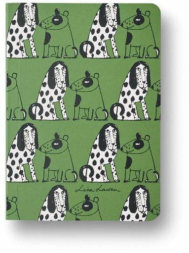 Anteckningsbok A6 linjerad mjuk pärm Lisa Larson hund 1